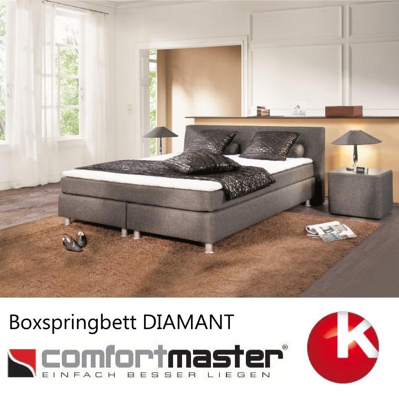 boxspringbett comfortmaster boxspring bett neu diamant preisvorschlag ebay. Black Bedroom Furniture Sets. Home Design Ideas