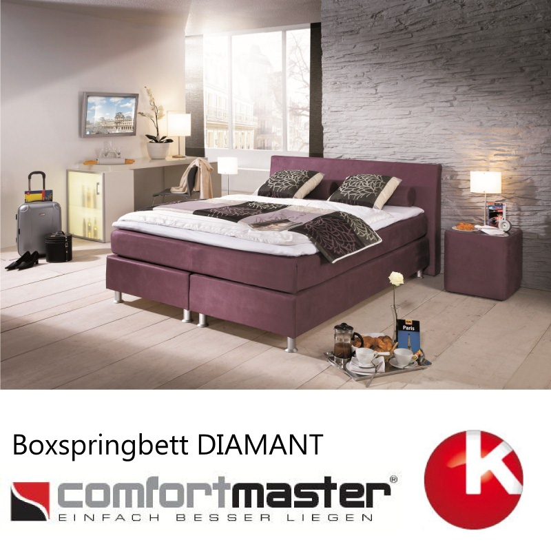 boxspringbett comfortmaster boxspring bett neu diamant. Black Bedroom Furniture Sets. Home Design Ideas