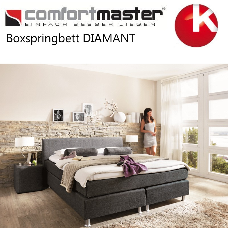 boxspringbett comfortmaster boxspring bett neu diamant preisvorschlag 3 ebay. Black Bedroom Furniture Sets. Home Design Ideas