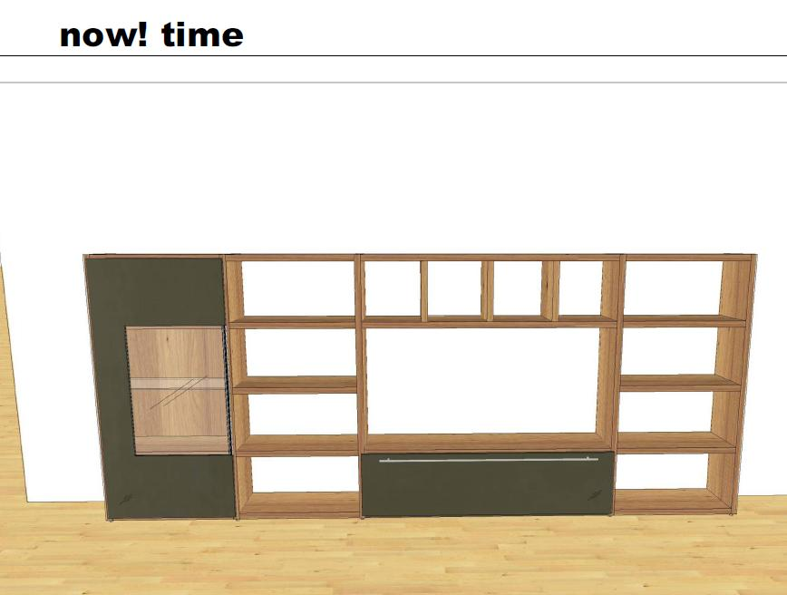 neuware wohnwand now by h lsta modell now time kostenlose. Black Bedroom Furniture Sets. Home Design Ideas
