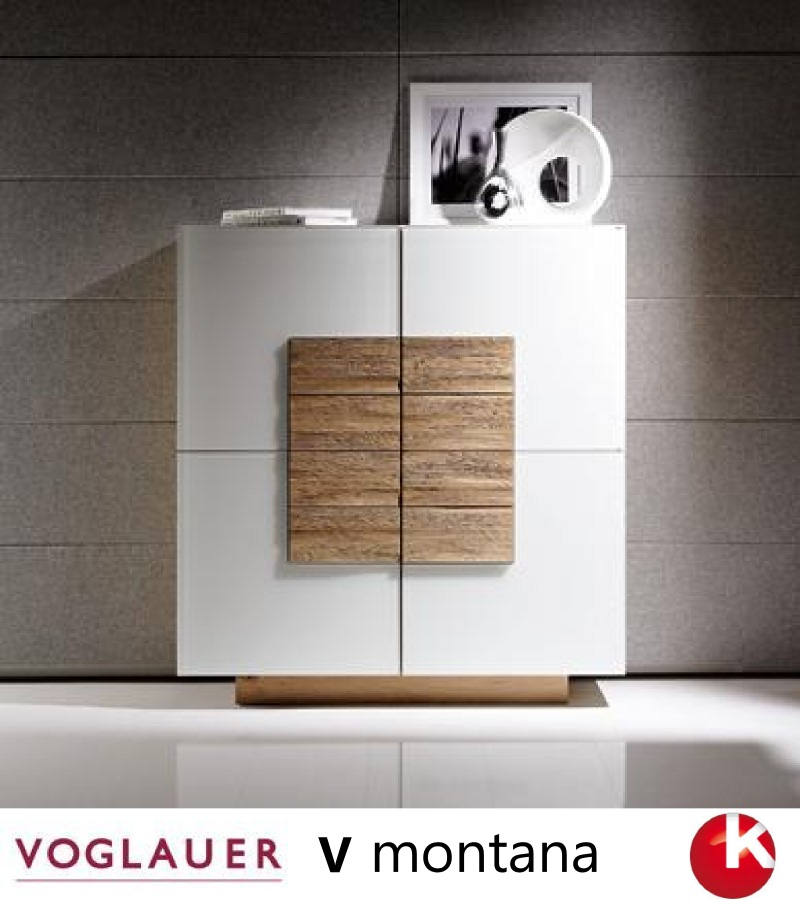 voglauer v montana highboard wildeiche glas optiwhite neu ovp ebay. Black Bedroom Furniture Sets. Home Design Ideas